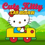 Cute Kitty Car Jigsaw