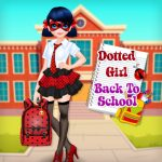 Dotted Girl Back To School