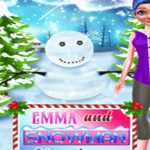Emma And Snowman Christmas