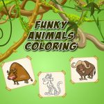 Funky Animals Coloring