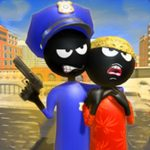 Stickman Police VS Gangsters Street Fight